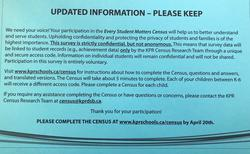 Blue Postcard-Every Student Matters Census